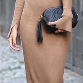 Long sweater sweater coat of cultivate one's morality dress dress