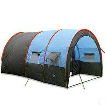 Rainproof 8 Person Double Layer Tunnel Party Tent