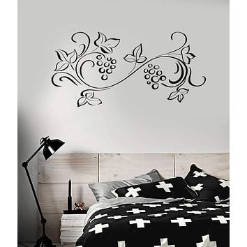 Vinyl Decal Floral Ornament Pattern Flower Room Decoration Wall Stickers Unique Gift (ig2771)