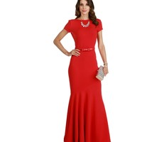 Nalia-red Formal Dress