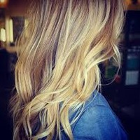 medium length honey blonde wavy hair down - Google Search