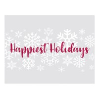 Corporate Business Happiest Holidays Postcard