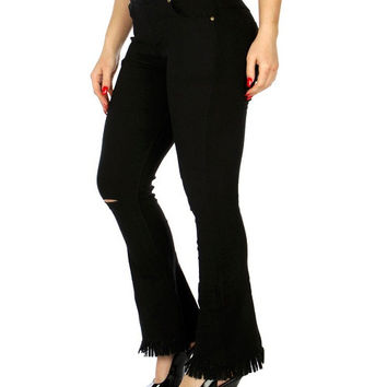 Fringe Bell Bottom Pants