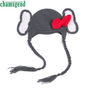 ICIK7Q Baby  Elephant Knit Crochet Winter Hat
