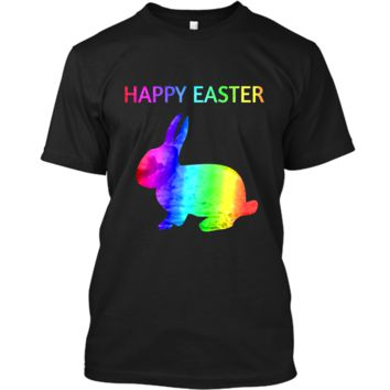Happy Easter - Easter Bunny water color rainbow Rabbit Custom Ultra Cotton