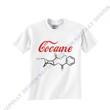 cocaine structure Custom Tshirt for men's , T shirt Cotton, Funny T shirt, Awesome T shirt, best design and clothing