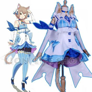 Re ZERO Starting Life in Another World Felix Argyle Ferris Cat Re:Zero Kara Hajimeru Isekai Seikatsu Women's Cosplay Costume Set