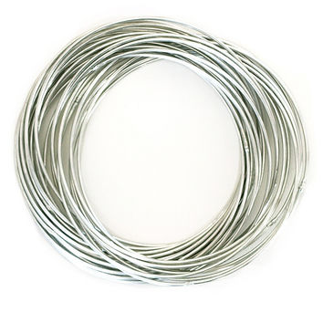 Connected Bangle Bracelet Set - Silver