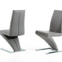Zuma Modern Grey Dining Chair (set of 2)
