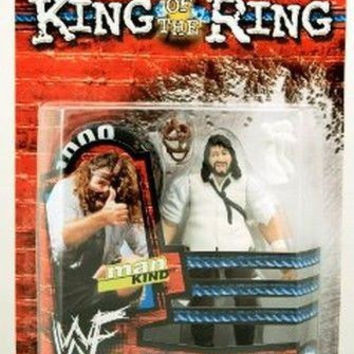 Mankind King of the Ring WWF 1999 Wrestling action figure NIB Jakks Pacific WWE new in package