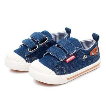 Comfy Kids Shoes for Girls Boys sneakers Jeans Canvas Children Denim Shoes boots Kids