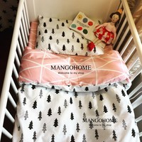 Cute Baby Crib Bedding Set 100% Cotton