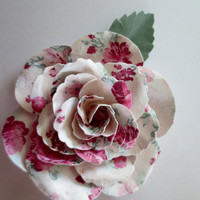 Shabby Chic Rose and Pinwheels Paper Embellishments