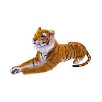 Melissa & Doug® Giant Tiger - Lifelike Stuffed Animal (over 5 feet long)