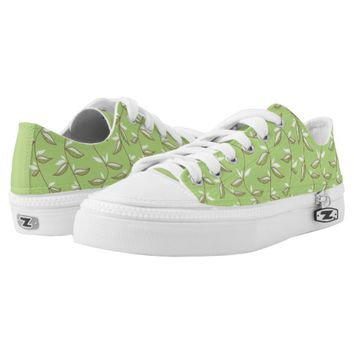 Beautiful Green Leaves Pattern Printed Shoes