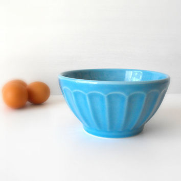 Vintage ceramic bowl blue by vaporqualquer on Etsy