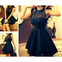 CUTE MESH BLACK DRESS