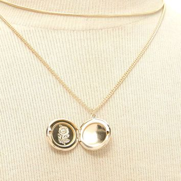 Locket Charm Necklace Set