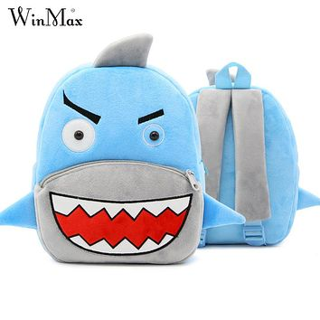 2017 Winmax Factory Outlet Girls 3D Cartoon Plush Boys Backpack Kindergarten Schoolbag Animal Kids Backpack Children School Bags