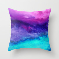 The Sound Throw Pillow by Jacqueline Maldonado