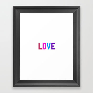LOVE Framed Art Print by Love from Sophie