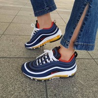 Nike Air Max 97 air cushion yellow blue shoes