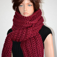The Cold Blocker Scarf in Bordeaux Wine