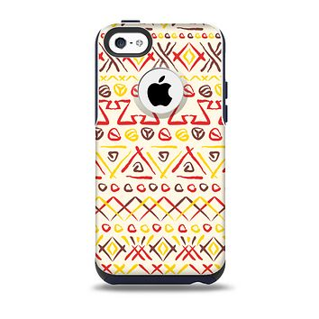 The Hand-Painted Vintage Aztek Pattern Skin for the iPhone 5c OtterBox Commuter Case