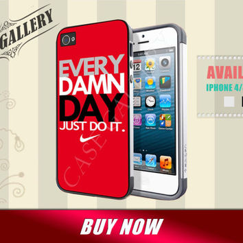 iphone 5c case red nike every damn day just do it iphone 4 4s case nike iphone 5 5c 5s case, nike just do it samsung s3 s4 case