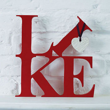 wooden 'like' or 'love' lettering by the cotton tree | notonthehighstreet.com