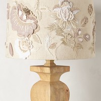 Felted Floral Lampshade by Anthropologie Neutral