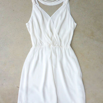 Effortless White Party Dress