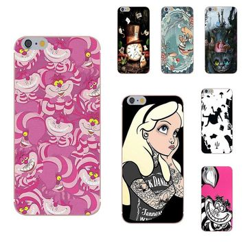Kmuysl Classic Phone Accessories Case Hot Sale Alice In Wonderland Punk For Apple iPhone 4 4S 5 5C 5S SE 6 6S 7 8 Plus X