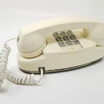 Vintage White Princess Telephone AT&T Working Touch tone Push Button Phone