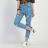 Ripped jeans for women hole Women jeans boyfriend jeans for woman