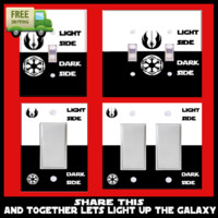 Star Wars Light Switch Plate Covers