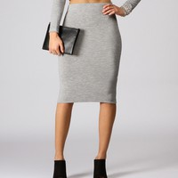 Sale-spell Chic Silver Pencil Skirt