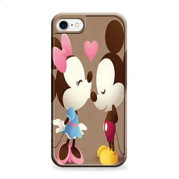 Mickey And Minnie kiss sepia iPhone 7 | iPhone 7 Plus case