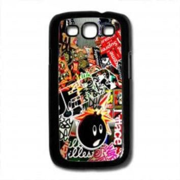Sticker Bomb Supreme and illest for samsung galaxy s3 case