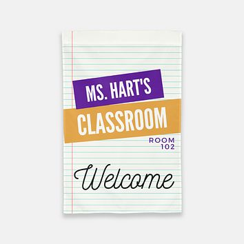 Personalized Classroom Flag