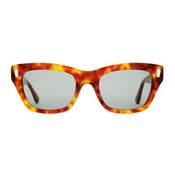 Crap Eyewear - Cosmic Highway Havana Tortoise Sunglasses / Green Vintage Lenses