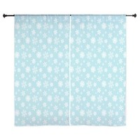 "Snowflake By J3ll3y 60"" Curtains> All Curtains - Shower and Window> The Afterlife Online Clothing"