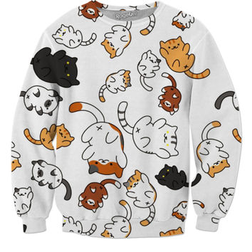 Neko Atsume Cat Pattern Sweatshirt