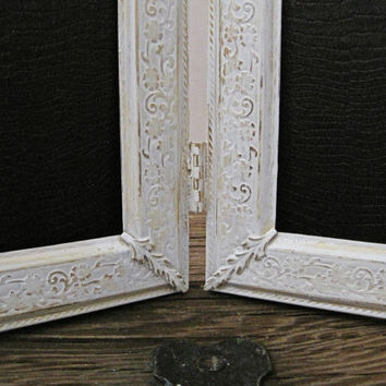 Shabby Chic Picture Frame With Glass Ornate Antique White Wall Decor 8x10