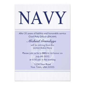 Chief Retirement Party Invitations