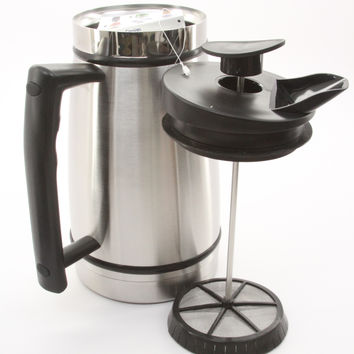 Planetary Design Table Top Stainless Steel French Presses 48oz (Brushed Stainless)