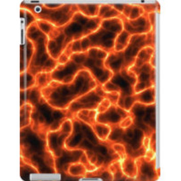 Orange Electric Glow Abstract by TigerLynx