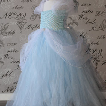 5c1ede8f8 Cinderella Disney Princess Blue and White from AuntieLisasBoutiqu