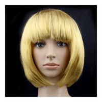 Women's Sexy Short Bob Cut Fancy Dress Wigs Play Costume Ladies Full Wig Party   Golden