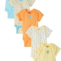 Gerber Unisex-Baby  Frogs And Ducks 5 Pack Variety Onesuits Brand, Yellow/Blue, Newborn